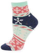 Happy Socks Snow Stripe Anklet Socks