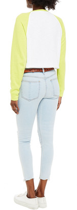 Rag & Bone Cate Cropped Distressed Mid-rise Skinny Jeans