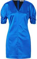 Elizabeth and James Sloan Duchesse-satin Mini Dress - Bright blue