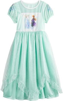 Disney Disney's Frozen 2 Elsa & Anna Girls 4-8 Fantasy Gown Nightgown