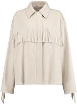 MM6 MAISON MARGIELA Fringed wool-blend jacket