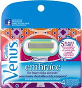 Gillette Venus Embrace for New Shavers Cartridge, 4-Count- Packaging May Vary
