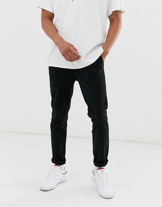 Jack and Jones Intelligence slim fit chinos in black