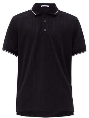 Givenchy Logo-jacquard Technical Polo Shirt - Mens - Black