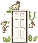 "Babies Babies""R""Us Monkey Door/Window Vinyl Art Decal Brown"
