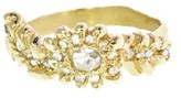 Elisa Solomon Flower and Leaf Ring with Diamonds