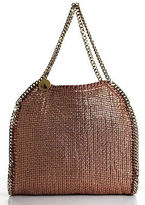 Stella McCartney Metallic Pink Woven Chain Strap Falabella Shoulder Handbag