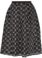 Erdem Halyn Embroidered Silk-Organza Skirt