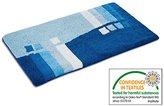 "casa pura Design Bathroom Rug | Non-Slip Bath Mat for Floors | Blue | Multiple Sizes Available | 28"" x 48"""