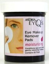 Andrea Eye Q's 65's Regular Eye Makeup Remover Pads (Pack of 6)