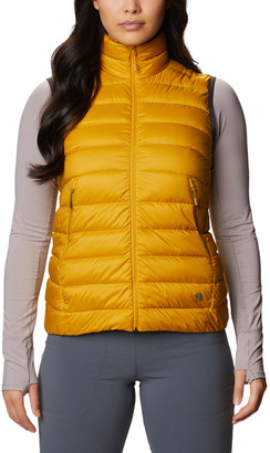 Mountain Hardwear Women's Outerwear Vests 750-Gold - Gold Hour Rhea RidgeTM Down Puffer Vest - Women