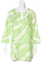 Kate Spade Linen-Blend Printed Tunic
