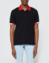 Fred Perry Tipped Cuff Pique Shirt Black