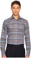 Eton Slim Fit Knit Print Shirt Men's Clothing