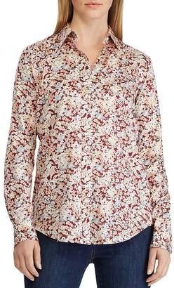 Ralph Lauren Cotton Sateen Floral-Print Shirt