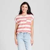Merona Women's Striped Cuffed T-Shirt