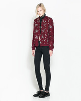 Embroidered And Beaded Bomber Jacket