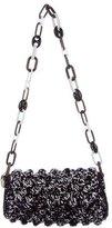M Missoni Pom-Pom Raffia Chain Bag w/ Tags