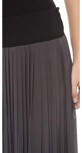 Rebecca Taylor Maxi Pleated Skirt