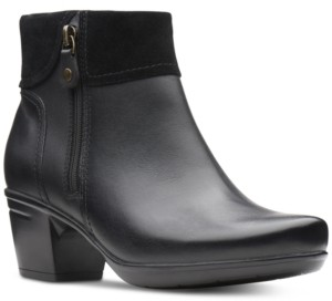 Clarks Women's Emslie Twist Leather Booties Women's Shoes