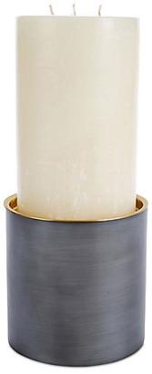 Global Views Mistborn Pillar Candleholder - Dark Gray/Gold