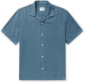 NN07 Miyagi Camp-Collar Tencel And Linen-Blend Shirt