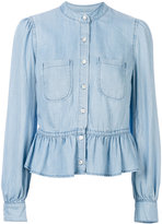 Frame denim Rowan peplum shirt - women - Tencel - S