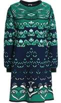 M Missoni Fluted Jacquard-Knit Mini Dress