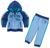 Disney Stitch Fleece Hoodie and Pants Set for Toddlers