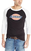 Dickies Men's Tonal Logo 3/4 Sleeve Raglan