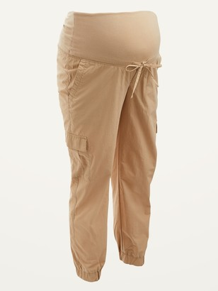Old Navy Maternity Rollover-Waist Soft-Woven Cargo Jogger Pants