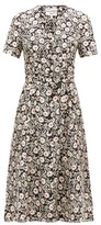 HVN Rosemary Floral-print Silk-satin Dress - Womens - Black Print