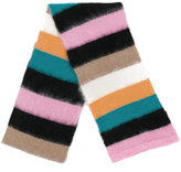 No.21 striped scarf - unisex - Polyamide/Mohair/Wool - One Size
