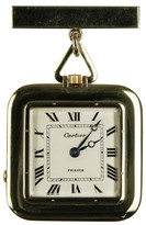 Cartier Yellow Gold & White Dial Square Pocket Unisex Watch