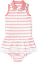 Ralph Lauren Girl Striped Polo Dress & Bloomer