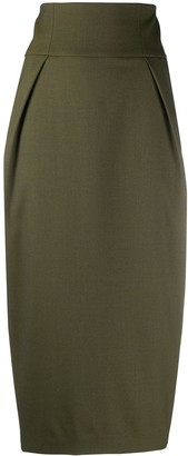 Alexandre Vauthier Tailored Wool Pencil Skirt