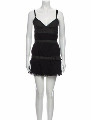 Dolce & Gabbana Silk Mini Dress w/ Tags Black