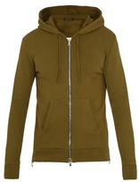 Balmain Hooded Zip-through Cotton Sweatshirt