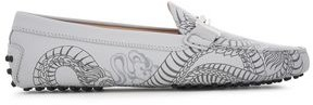 Tod's Embellished Printed Leather Loafers