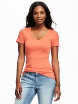 Old Navy Fitted V-Neck Tee for Women