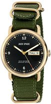 Jack Spade Men's WURU0215 Stainless Steel Watch with Green Canvas Band