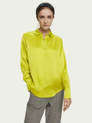 Scotch & Soda Pure silk long sleeve shirt   Women