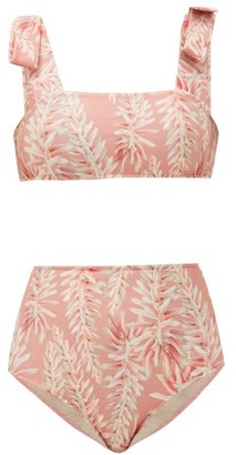 Adriana Degreas Aloe Vera Floral-print Bikini - Pink Print