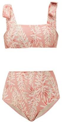 Adriana Degreas Aloe Vera Floral-print Bikini - Womens - Pink Print