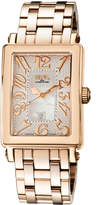 Gevril Swiss Quartz Mezzo Rose tone Stainless steel Bracelet Watch