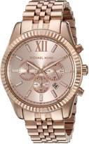 Michael Kors Men's Lexington MK8319 Rose- Stainless-Steel Quartz Watch with Rose- Dial