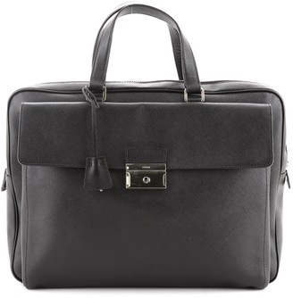 Prada Front Pocket Briefcase Saffiano Leather