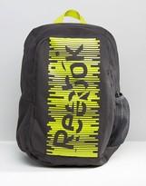 Reebok Logo Backpack In Neon Yellow
