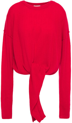 Charli Christa Tie-front Cashmere Sweater