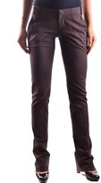 Dirk Bikkembergs Women's Brown Cotton Pants.